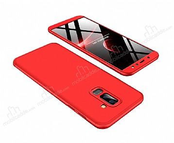 Eiroo Protect Fit Samsung Galaxy A6 Plus 2018 360 Derece Koruma Kırmızı Rubber Kılıf
