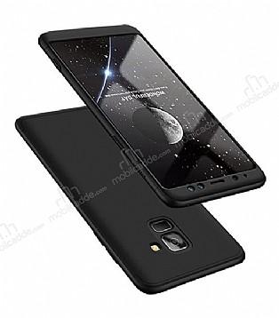 Eiroo Protect Fit Samsung Galaxy A8 2018 360 Derece Koruma Siyah Rubber Kılıf