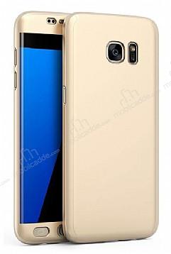 Eiroo Protect Fit Samsung Galaxy C9 Pro 360 Derece Koruma Gold Rubber Kılıf