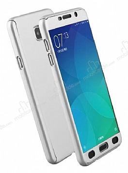 Eiroo Protect Fit Samsung Galaxy C9 Pro 360 Derece Koruma Silver Rubber Kılıf