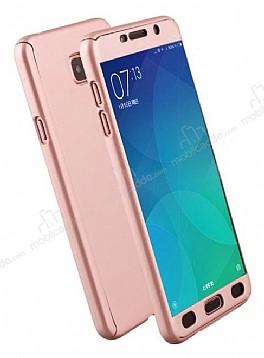 Eiroo Protect Fit Samsung Galaxy C9 Pro 360 Derece Koruma Rose Gold Rubber Kılıf