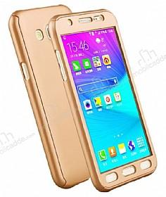 Eiroo Protect Fit Samsung Galaxy Grand Prime / Prime Plus 360 Derece Koruma Gold Rubber Kılıf