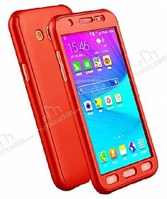 Eiroo Protect Fit Samsung Galaxy Grand Prime / Prime Plus 360 Derece Koruma Kırmızı Rubber Kılıf