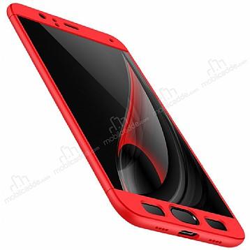 Eiroo Protect Fit Samsung Galaxy J5 Pro 2017 360 Derece Koruma Kırmızı Rubber Kılıf