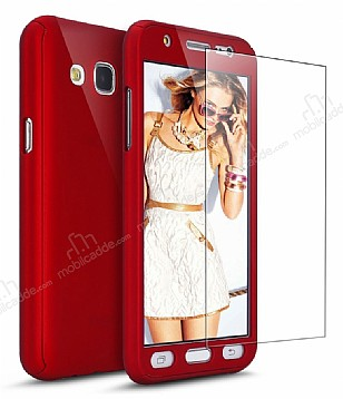 Eiroo Protect Fit Samsung Galaxy J7 / Galaxy J7 Core 360 Derece Koruma Kırmızı Rubber Kılıf