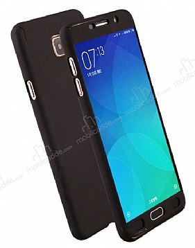 Eiroo Protect Fit Samsung Galaxy J7 Prime 360 Derece Koruma Siyah Rubber Kılıf