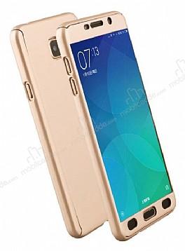 Eiroo Protect Fit Samsung Galaxy J7 Prime 360 Derece Koruma Gold Rubber Kılıf