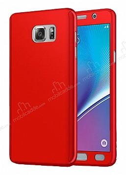 Eiroo Protect Fit Samsung Galaxy Note 5 360 Derece Koruma Kırmızı Rubber Kılıf