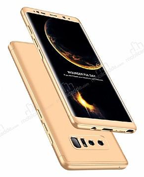 Eiroo Protect Fit Samsung Galaxy Note 8 360 Derece Koruma Gold Rubber Kılıf