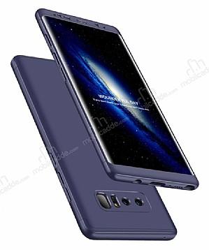 Eiroo Protect Fit Samsung Galaxy Note 8 360 Derece Koruma Lacivert Rubber Kılıf