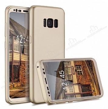 Eiroo Protect Fit Samsung Galaxy S8 360 Derece Koruma Gold Rubber Kılıf