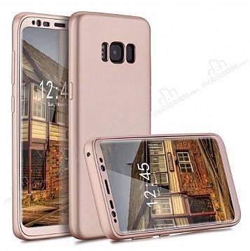 Eiroo Protect Fit Samsung Galaxy S8 360 Derece Koruma Rose Gold Rubber Kılıf