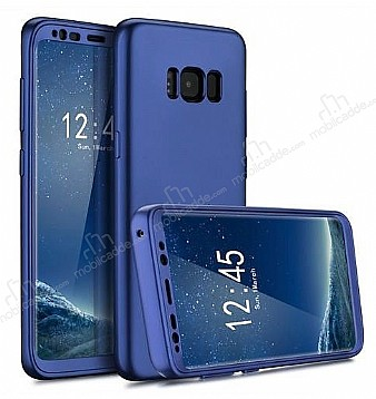 Eiroo Protect Fit Samsung Galaxy S8 360 Derece Koruma Lacivert Rubber Kılıf