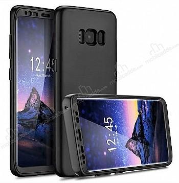 Eiroo Protect Fit Samsung Galaxy S8 Plus 360 Derece Koruma Siyah Rubber Kılıf