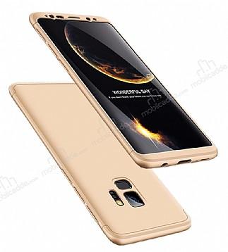 Eiroo Protect Fit Samsung Galaxy S9 360 Derece Koruma Gold Rubber Kılıf