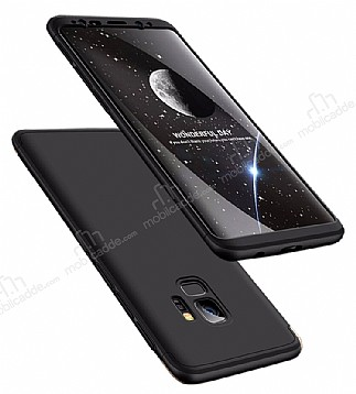 Eiroo Protect Fit Samsung Galaxy S9 360 Derece Koruma Siyah Rubber Kılıf