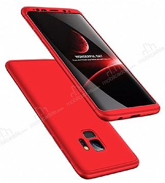 Eiroo Protect Fit Samsung Galaxy S9 360 Derece Koruma Kırmızı Rubber Kılıf