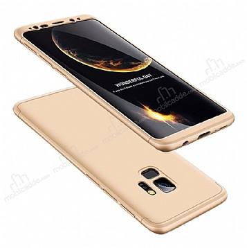 Eiroo Protect Fit Samsung Galaxy S9 Plus 360 Derece Koruma Gold Rubber Kılıf