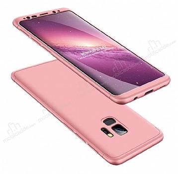 Eiroo Protect Fit Samsung Galaxy S9 Plus 360 Derece Koruma Rose Gold Rubber Kılıf