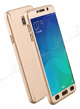 Eiroo Protect Fit Samsung Grand Prime Pro J250F 360 Derece Koruma Gold Rubber Kılıf