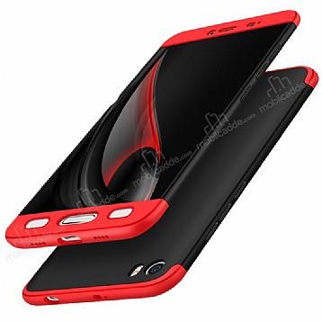 Eiroo Protect Fit Xiaomi Mi 5 360 Derece Koruma Siyah-Kırmızı Rubber Kılıf