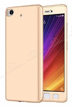 Eiroo Protect Fit Xiaomi Mi 5s 360 Derece Koruma Gold Rubber Kılıf