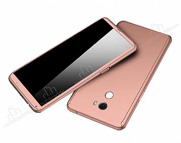 Eiroo Protect Fit Xiaomi Mi Mix 2 360 Derece Koruma Rose Gold Rubber Kılıf
