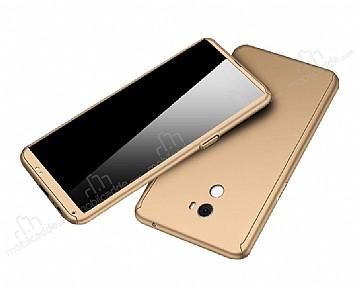 Eiroo Protect Fit Xiaomi Mi Mix 2 360 Derece Koruma Gold Rubber Kılıf