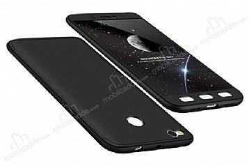 Eiroo Protect Fit Xiaomi Redmi 4X 360 Derece Koruma Siyah Rubber Kılıf