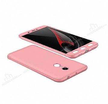 Eiroo Protect Fit Xiaomi Redmi Note 4 / Redmi Note 4X 360 Derece Koruma Rose Gold Rubber Kılıf
