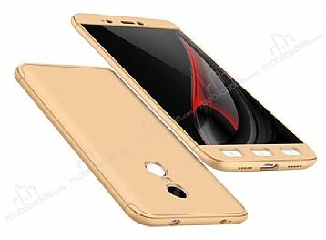 Eiroo Protect Fit Xiaomi Redmi Note 4 / Redmi Note 4x 360 Derece Koruma Gold Rubber Kılıf