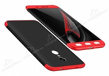 Eiroo Protect Fit Xiaomi Redmi Note 4 / Redmi Note 4x 360 Derece Koruma Siyah-Kırmızı Rubber Kılıf