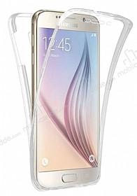 Eiroo Protection Samsung Galaxy J7 2016 360 Derece Koruma Şeffaf Silikon Kılıf