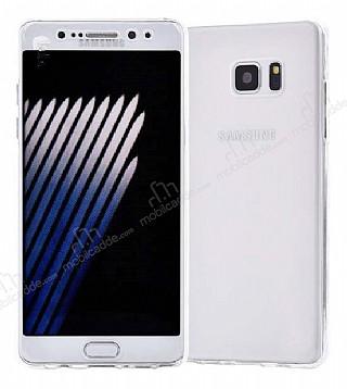Eiroo Protection Samsung Galaxy Note FE 360 Derece Koruma Şeffaf Silikon Kılıf