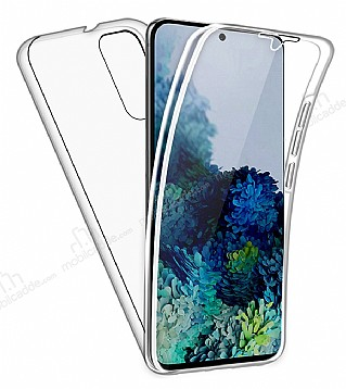 Eiroo Protection Samsung Galaxy S20 360 Derece Koruma Şeffaf Silikon Kılıf