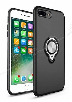 Eiroo Q-Armor iPhone 7 Plus / 8 Plus Selfie Yüzüklü Ultra Koruma Siyah Kılıf