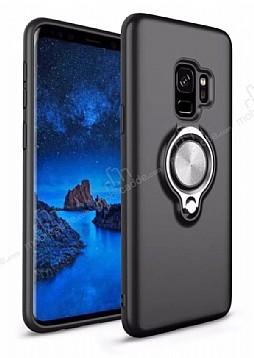 Eiroo Q-Armor Samsung Galaxy S9 Plus Selfie Yüzüklü Ultra Koruma Siyah Kılıf