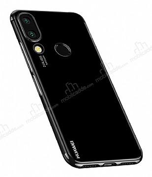 Eiroo Radiant Huawei P20 Lite Siyah Kenarlı Şeffaf Silikon Kılıf