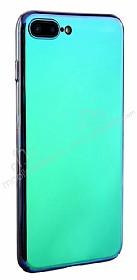 Eiroo iPhone 7 Plus /8 Plus Tam Kenar Koruma Mavi Rubber Kılıf