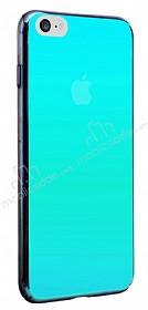 Eiroo Reflection iPhone 7 Tam Kenar Koruma Mavi Rubber Kılıf
