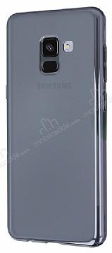 Eiroo Reflection Samsung Galaxy A8 Plus 2018 Tam Kenar Koruma Siyah Rubber Kılıf