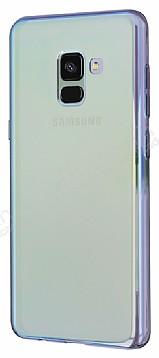 Eiroo Reflection Samsung Galaxy A8 Plus 2018 Tam Kenar Koruma Sarı Rubber Kılıf
