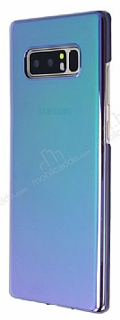 Eiroo Reflection Samsung Galaxy Note 8 Tam Kenar Koruma Yeşil Rubber Kılıf