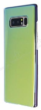 Eiroo Reflection Samsung Galaxy Note 8 Tam Kenar Koruma Sarı Rubber Kılıf