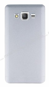 Eiroo Resistant Samsung Galaxy Grand Prime �ift Katmanl� Metal Silver K�l�f