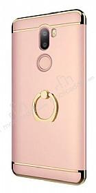 Eiroo Ring Fit Xiaomi Mi 5s Plus Selfie Yüzüklü Rose Gold Rubber Kılıf