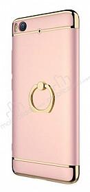 Eiroo Ring Fit Xiaomi Mi 5s Selfie Yüzüklü Rose Gold Rubber Kılıf