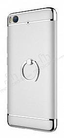 Eiroo Ring Fit Xiaomi Mi 5s Selfie Yüzüklü Silver Rubber Kılıf