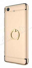 Eiroo Ring Fit Xiaomi Mi 5s Selfie Yüzüklü Gold Rubber Kılıf