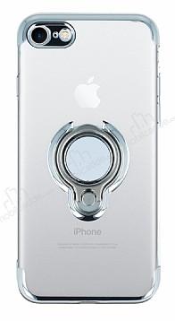 Eiroo Ring Laser iPhone 7 / 8 Selfie Yüzüklü Silver Silikon Kılıf